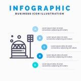 基地,殖民地,建筑,圆顶,居住线象有5步介绍infographics背景 皇族释放例证