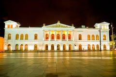 基多,厄瓜多尔的苏克雷剧院有历史的中心。 免版税库存照片