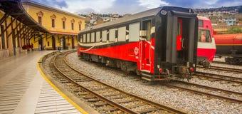 基多,厄瓜多尔2017年8月20日:厄瓜多尔蒸汽colomotive在chinbacalle训练博物馆,位于市基多 免版税库存图片