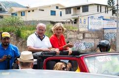 基多,厄瓜多尔- 2017年2月5日:辛西亚Viteri, Partido社会克里斯蒂亚诺党的总统候选人,  免版税库存照片