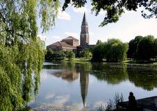 基尔德国城镇厅。 库存照片