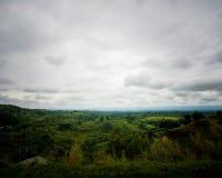 基巴莱国家公园在Fort Portal附近的西乌干达 免版税库存照片