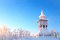 基律纳大教堂纪念碑拉普兰瑞典 免版税库存图片