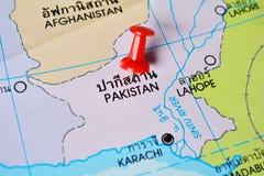 巴基斯坦地图 免版税库存图片