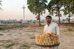 巴基斯坦摊贩的画象,拉合尔,旁遮普邦,巴基斯坦 免版税库存图片