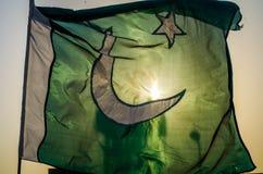 巴基斯坦旗子 免版税图库摄影