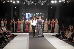 巴基斯坦时尚设计委员会(PFDC)秋天时尚星期2012年 免版税库存照片