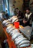 巴基斯坦鱼卖主 图库摄影