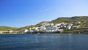 基斯诺斯岛海岛的全景视图在希腊 旅行 图库摄影