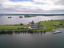 基日岛Pogost,卡累利阿,俄罗斯 免版税库存图片