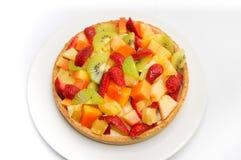 基本乳蛋糕装载的果子结果实混杂酸顶部多种 免版税图库摄影