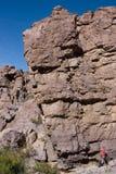 基本峭壁登山人 免版税库存图片