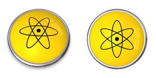 基本按钮核符号 免版税库存照片