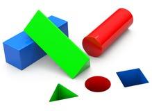 基本的几何形状 免版税库存图片