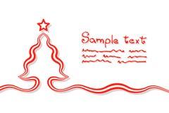 基本的圣诞卡 向量例证