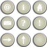 基本的按钮主页万维网 库存例证