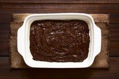 基本的自创果仁巧克力或巧克力蛋糕面团 图库摄影