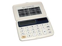 基本的计算器 免版税库存照片