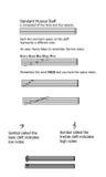 基本的音乐课页 向量例证