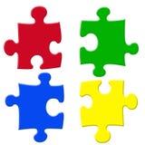 基本的颜色puzzels 免版税库存照片