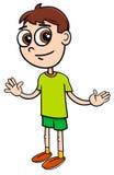 基本的年龄男孩动画片例证 库存例证