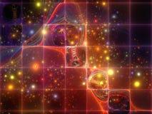 基本粒子共同作用  向量例证