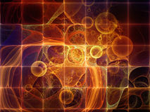 基本粒子前进  库存例证