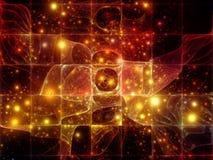 基本粒子变化  向量例证