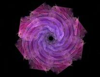 基本粒子系列 抽象分数维互相作用关于核物理科学和图形设计形成 库存例证