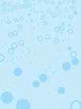 基本蓝色泡影 库存照片