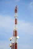 基本蓝色移动电话天空岗位电信耸立 库存照片