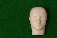 基本训练睫毛引伸的硅树脂时装模特在gre 库存照片