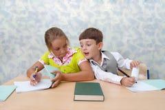 基本课程学校测试 免版税库存图片