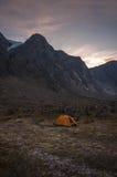 基本野营在Auyuittuq国家公园风景,努纳武特,加拿大 库存照片