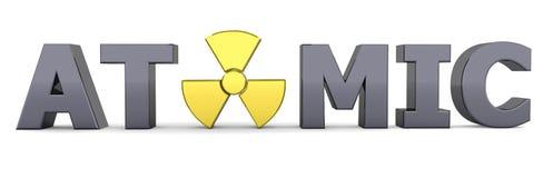 基本黑色核符号字黄色 向量例证