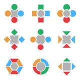 基本类型无限徽标集合形状正方形 免版税库存照片