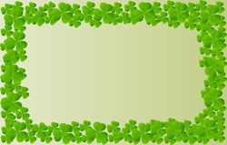 Lucky clover green background. vector illustration design. royalty free illustration