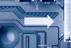 基片电路关闭微电阻器 免版税库存照片