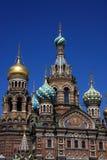 基督・彼得斯堡复活俄国圣徒 库存照片
