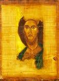 基督・耶稣绘画木头 图库摄影
