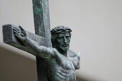 基督・耶稣雕象 库存照片
