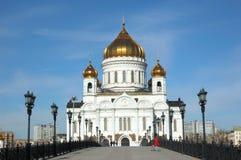 基督・莫斯科我们的救主寺庙 免版税图库摄影
