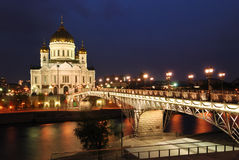 基督・莫斯科我们的救主寺庙 免版税库存图片
