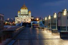 基督・莫斯科我们的救主寺庙 免版税库存照片