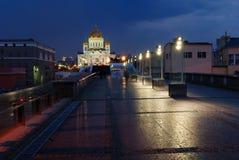 基督・莫斯科我们的救主寺庙 库存照片