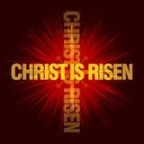 基督上升 背景上色了复活节彩蛋eps8格式红色郁金香向量 图库摄影