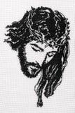 基督交叉耶稣针 免版税图库摄影