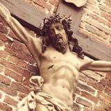基督交叉迫害了圣洁耶稣 免版税库存图片