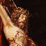 基督交叉迫害了圣洁耶稣 图库摄影