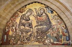 基督加冕florenc圣洁耶稣・玛丽 库存图片